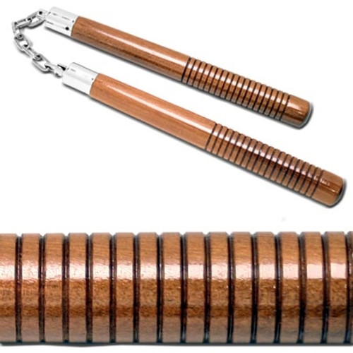 Octagon B. B. Nunchaku With Lines Hand Grip