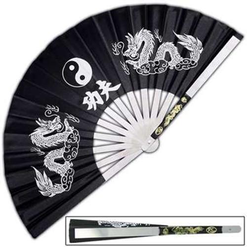 Iron Fan Tessen-Jutsu Training Dragon Black