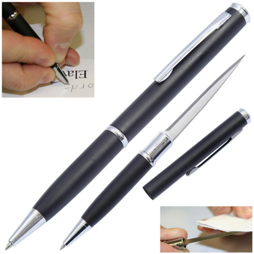 Elegant Executive Letter Opener Pen Knife Black