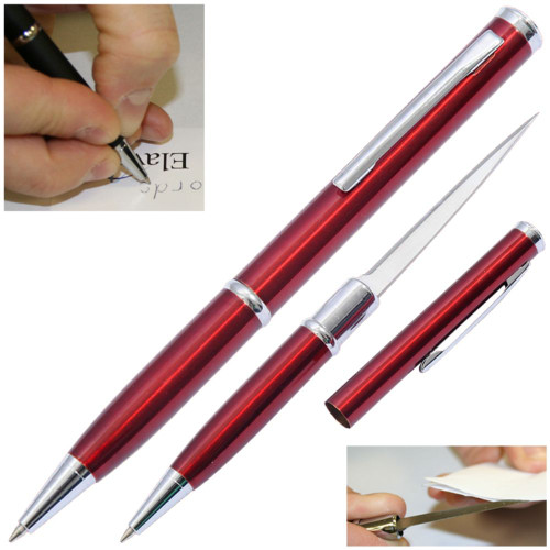 Elegant Executive Letter Opener Pen Knife Red