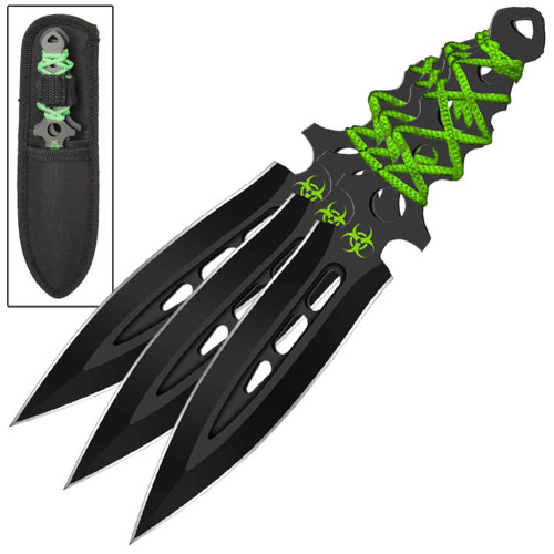 Airborne Biohazard Throwing Knife Set