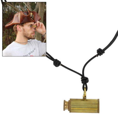 Land Ho! Moveable Pirate Telescope Pendant