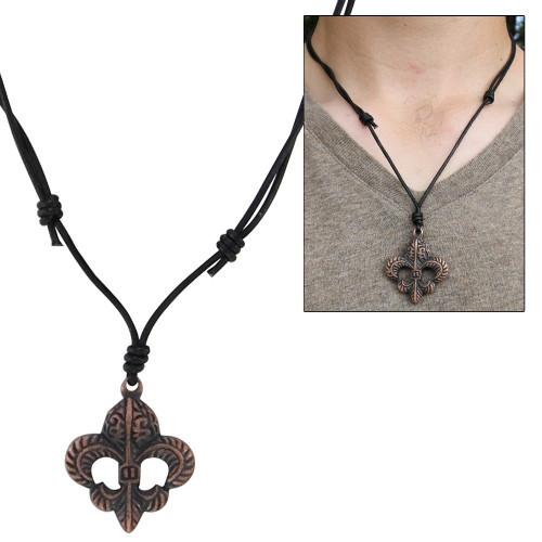 Copper Fleur de Lis Sixth Son Necklace