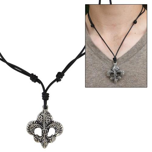 Monarchs Fleur de Lis Fashion Pendant Necklace