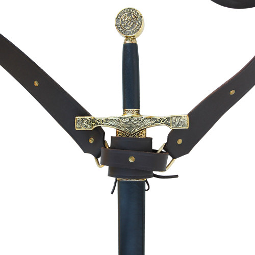 Knights Templar Double Belt Sword Frog Large