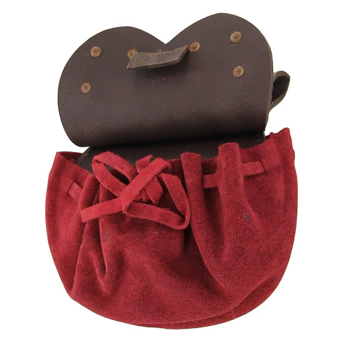 Handmade Royal Court Suede Pouch