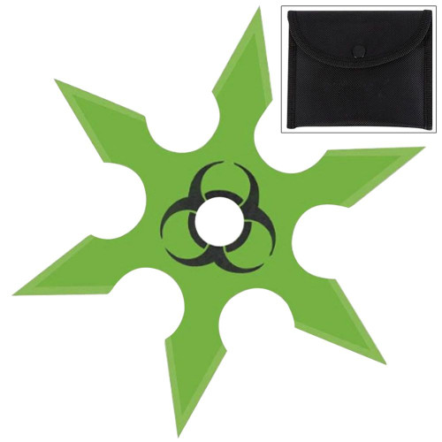 Infected Genocide 6 Point Throwing Star Green