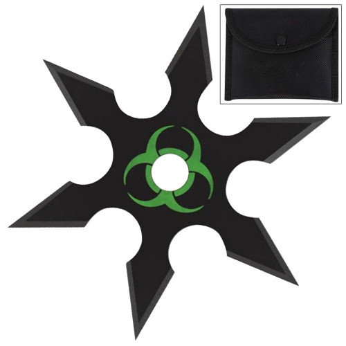 Infected Genocide 6 Point Throwing Star Black
