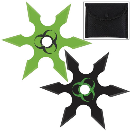 Infected Genocide 6 Point Throwing Star 2 Piece Set