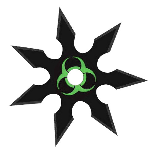 Infected Genocide 7 Point Throwing Star Black