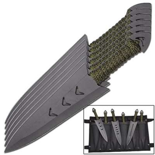 Apache Warrior Arrowhead Throwers Six Knives