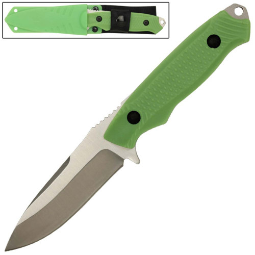 Full Tang Drop Point Tactical Knife Green