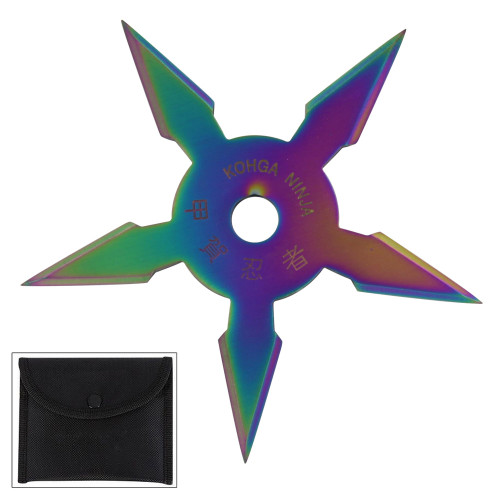 Secret Khoga Ninja Five Points Throwing Star Titanium