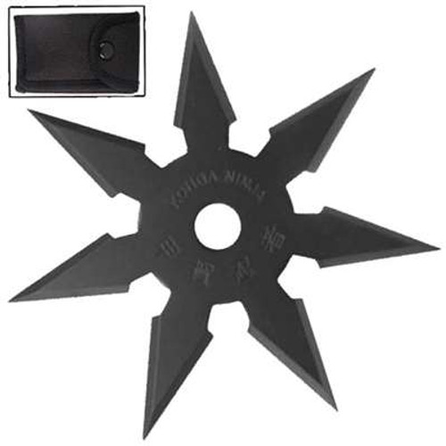 Secret Khoga Ninja Seven Points Throwing Star Black