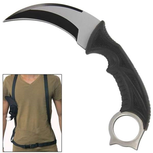 CSGO Silver Back Fixed Blade Survival Karambit