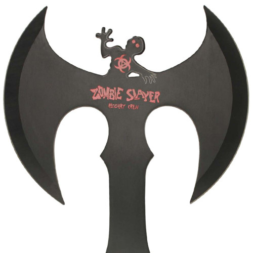 Zed Full Tang Double Headed Axe Red