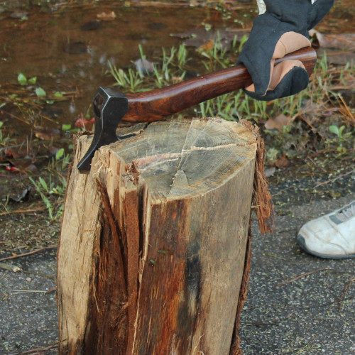Leave it to Peter Hand Forged Steel Axe