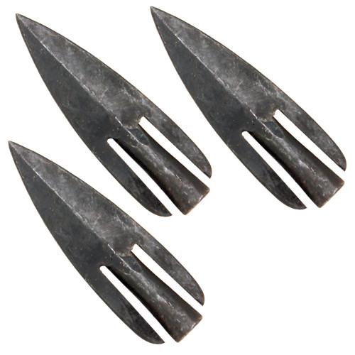 Medieval Bowsman Iron Bared Archery Broadhead Set