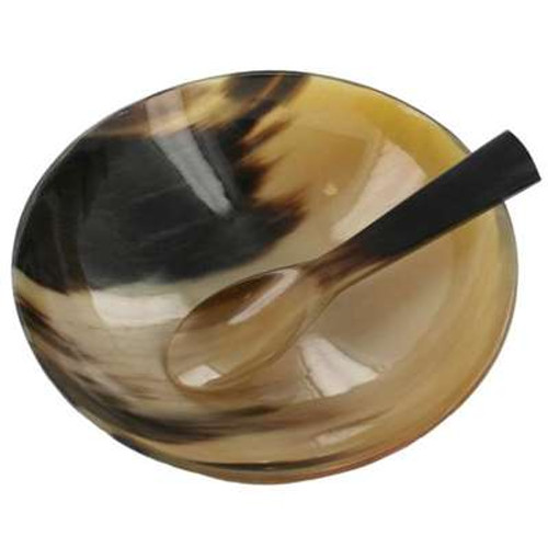 Renaissance Set Buffalo Horn Spoon & Bowl 16oz