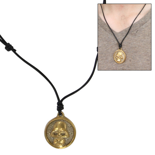 Somber Eternity Skull Brass Pendant Necklace