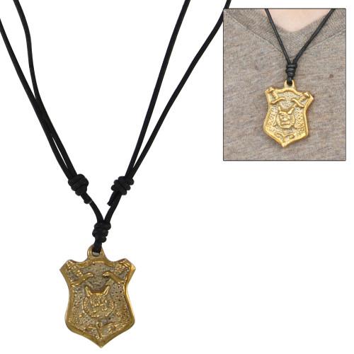 Lions Head Shield Crest Necklace