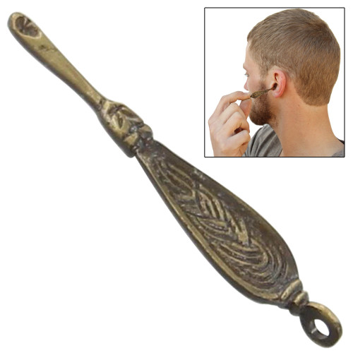 Medieval Viking Brass Ear Cleaner