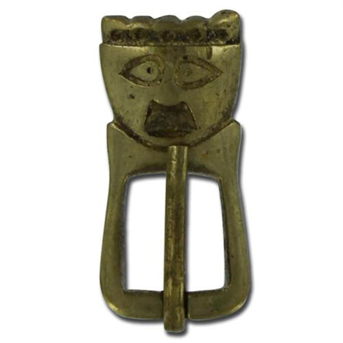 Medieval Early Anglo-Saxon King Brass Buckle