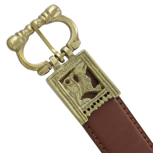 Heraldic Medieval Brass Buckle