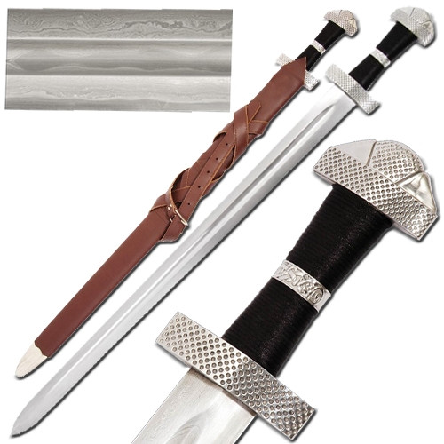 Viking 9th Century Damascus Steel Sword
