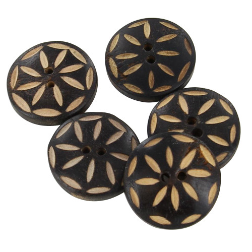 Genuine Horn Rebel Tribe 5 Piece Button Set