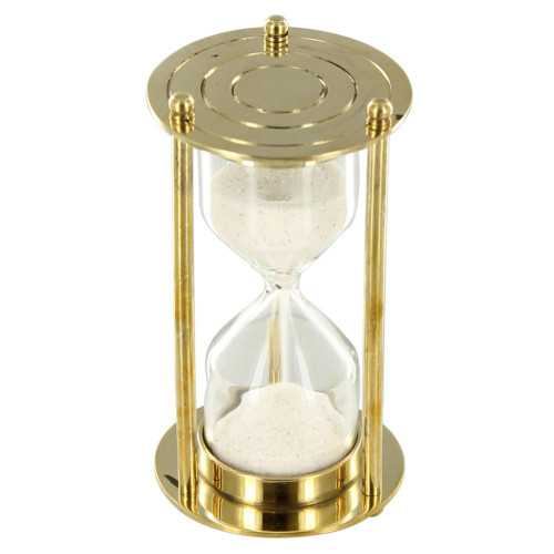 Past, Present, and Future Brass Desk Sandclock Hourglass