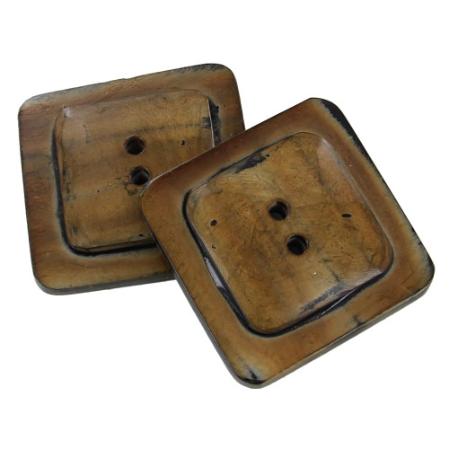 Four Corners Hand Crafted 2 Hole Horn Button Set