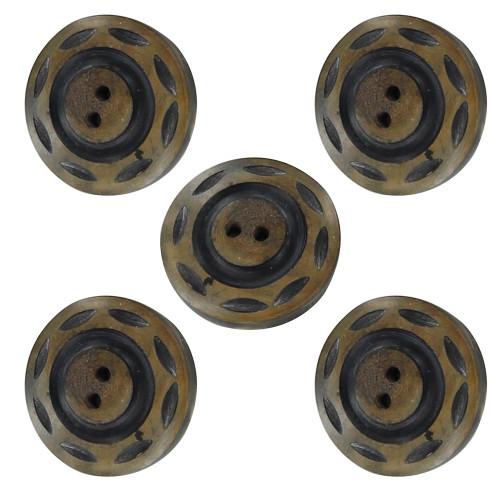 Horn Natural Earthbound 5 Piece Button Set