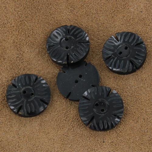 Handmade Horn Layla Daisy Button Set