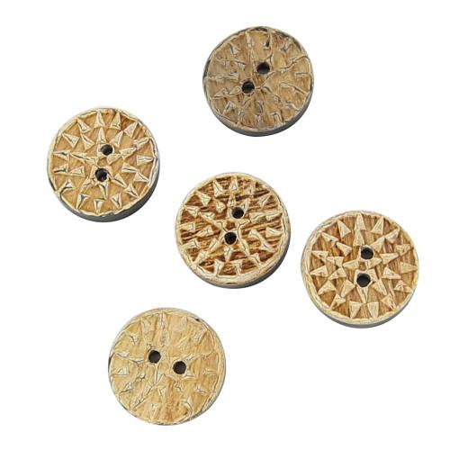 Under the Aztec Sun Custom Horn Button Set