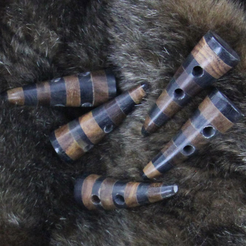 Handmade Viking Apparel Horn Striped Toggle Set