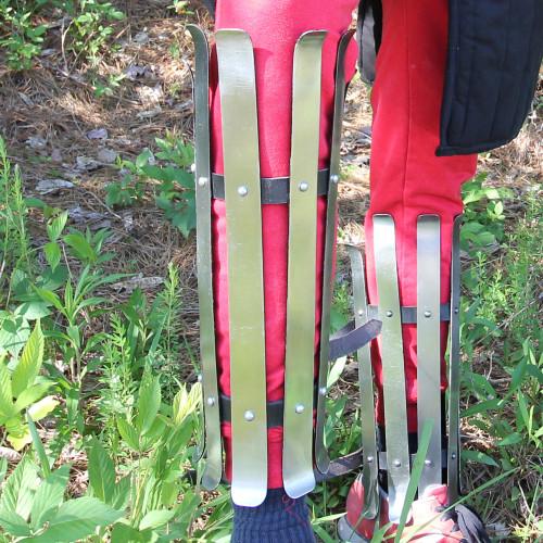 Splinted 16g Leg Armor Viking Greaves
