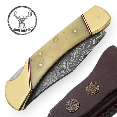 Hunt For Life™ Lockback Walker Hound Pocket Knife