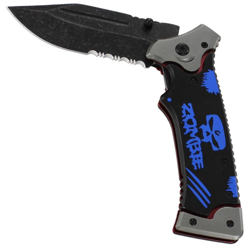 Ripple Effect Spring Assisted Knife