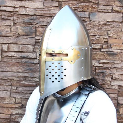 Medieval 20G Knights Sugarloaf Helmet