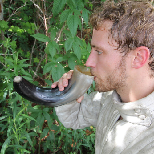 Bottoms Up All Natural Drinking Horn