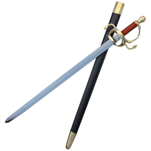 Fully Functional Golden Swept Hilt Rapier