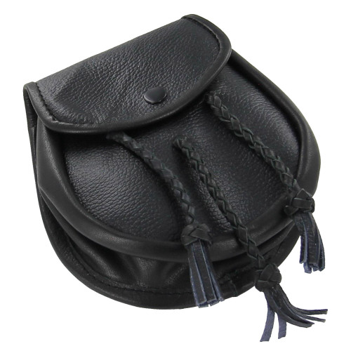 Scottish Gaelic Leather Day Sporran Pouch