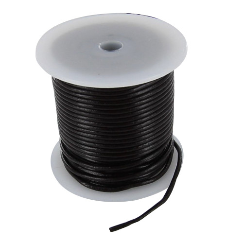 25 Meters 2mm Leather Cord Spool