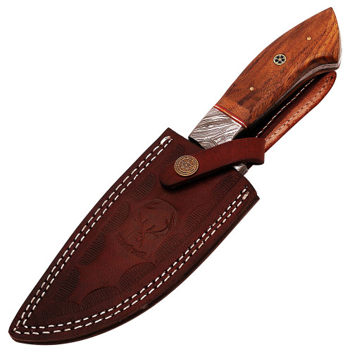 Damascus Full Tang Top Quality Flame Ridge Hunt For Life™Hunting Knife