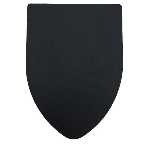 Round Table Black Blank Foam Shield