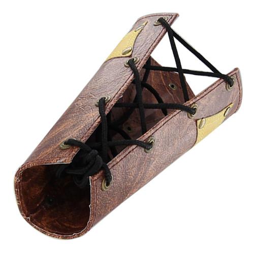 Leather Swept Ankh of Spirituality Arm Bracers