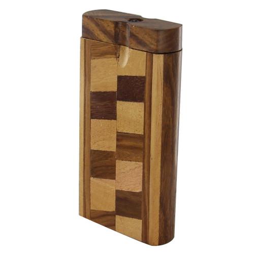 Tobacco Herringbone Retro Wooden Case