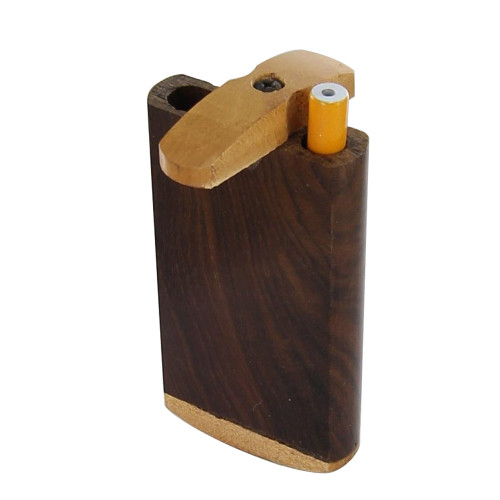 Wooden Crafted Blank Slate Cigarette Tobacco Case Dugout