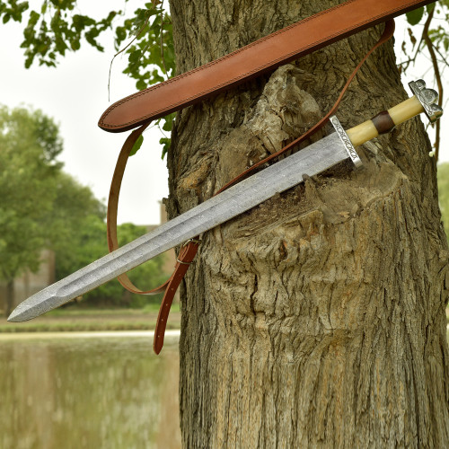 Anglo Saxon No Mans Land Damascus Battle Sword